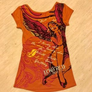 New Ecko Red Angle Printed T-shirt Size M